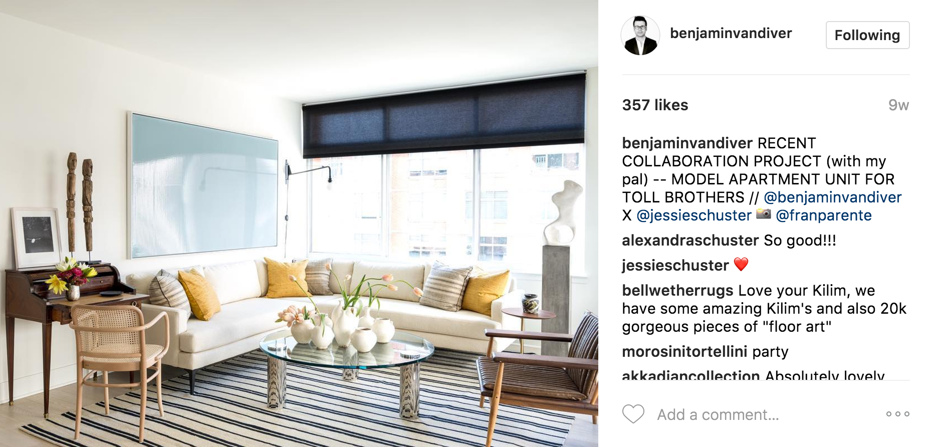 17 The 10 Best NYC Interior Designers on Instagram   The Shade Company